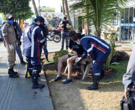 Vítima de roubo em Rondonópolis-MT. Varlei Cordova/AGORA MT