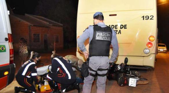 Motociclista é atropelado por ônibus – Messias Filho / AGORA MT