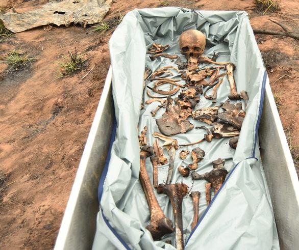 Ossada humana encontrada na Rodovia do Peixe – Messias Filho/ AGORA MT