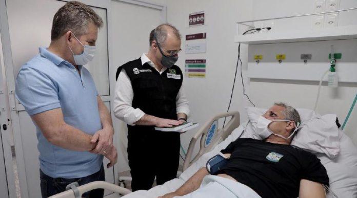 visita do governador e ministro no hospital. Foto: Mayke Toscano/Secom-MT