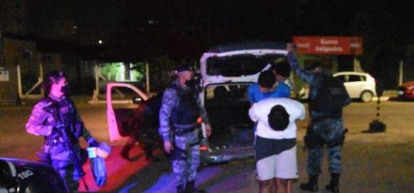 Três suspeitos presos por tráfico de droga- Foto: Messias Filho/AGORA MT