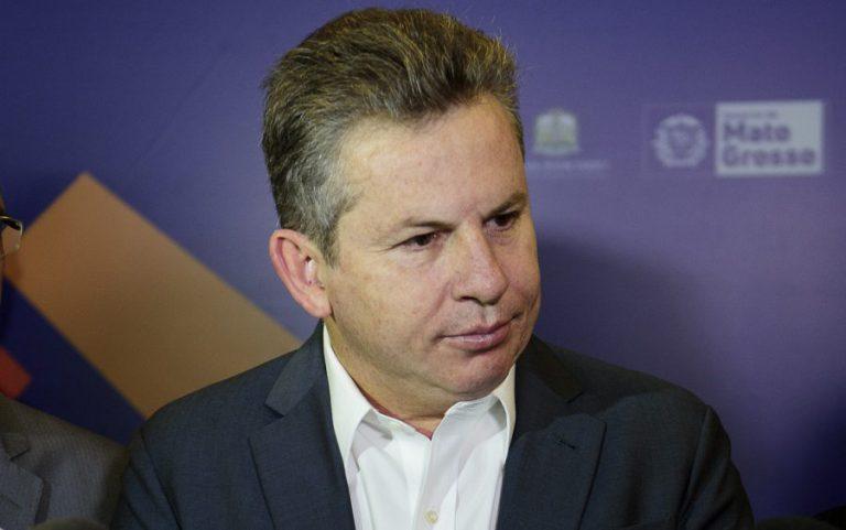 Governador Mauro Mendes no Mutirão Fiscal – Foto: Secom-MT