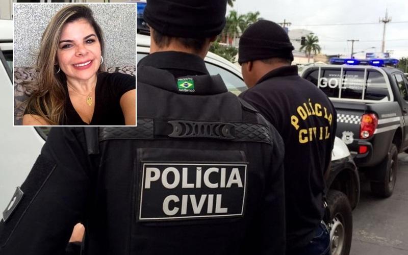 Ruth Semiramys (no detalhe), que teve veículo levado por criminosos – Foto: Reprodução
