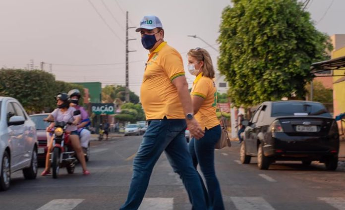 Luizão e a esposa – Foto: Reprodução