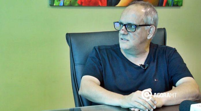 """""""A sociedade tem que ter confiança na saúde pública nossa"""", afirmou o prefeito reeleito José Carlos do Pátio – Foto Varlei Cordova / AGORA MT"""
