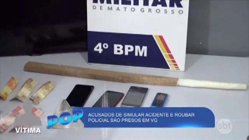 Acusados de simular acidente e roubar policial são presos em VG